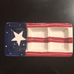4th of July ceramic tray.